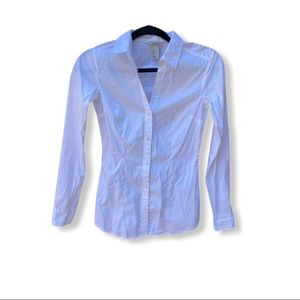 H&M Fitted Dress Shirt White